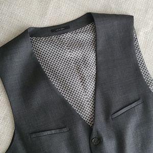 Mens Dark Gray Suit Vest